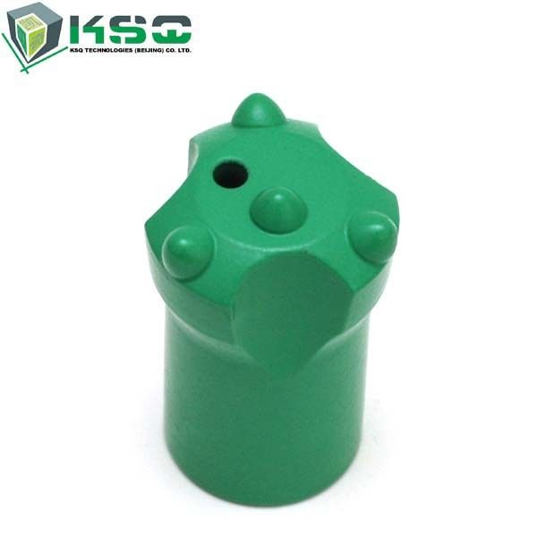 "1.5"" 12 Degree Short Tapered Button Bit Green For Stone Quarrying Industry"